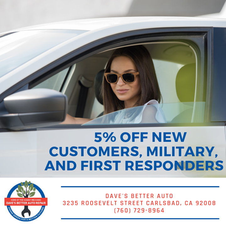 You had us at 5% off! All new customers, military, and first responders receive…