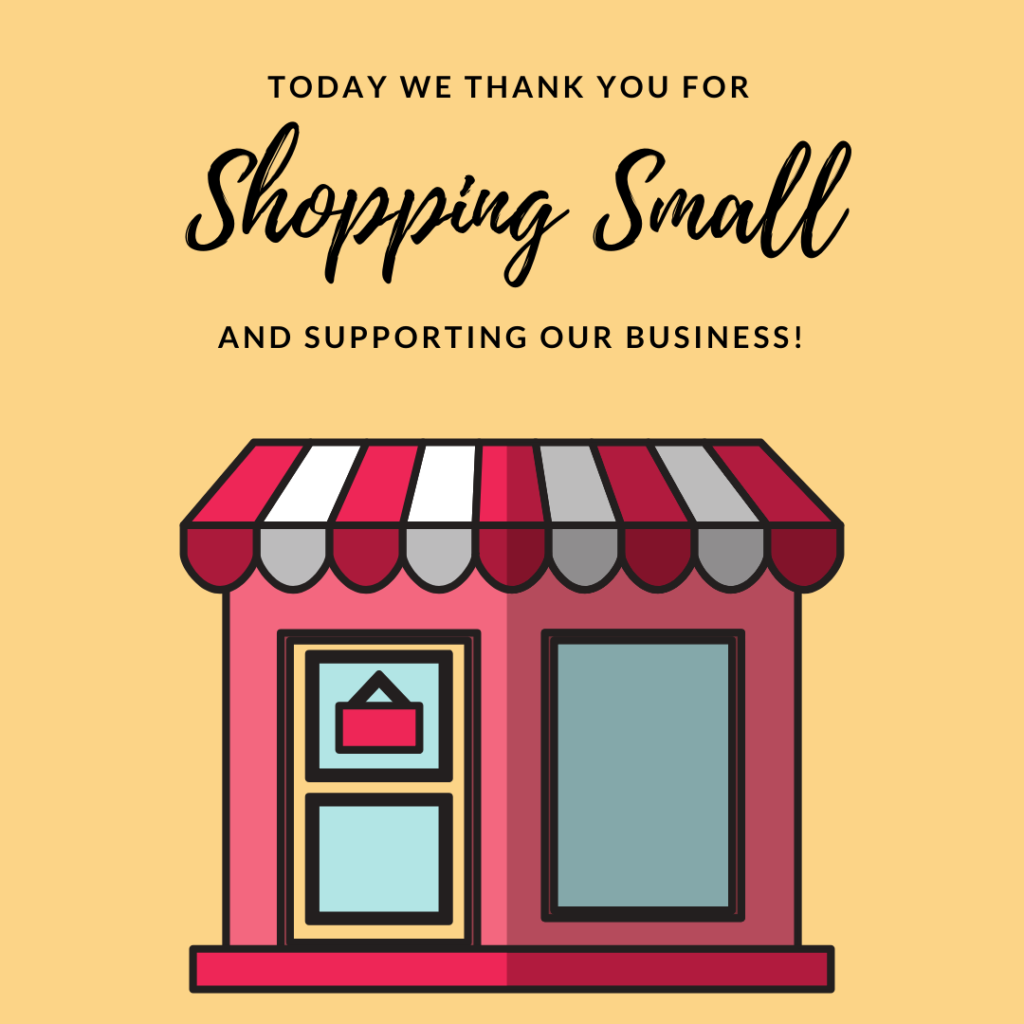 We want to thank you for shopping small and supporting small businesses like ou…